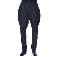 2018 New Arrival Gothic Pants Mens Black Harem Pants Devil Fashion Vintage Long Pants Palace Court Trousers