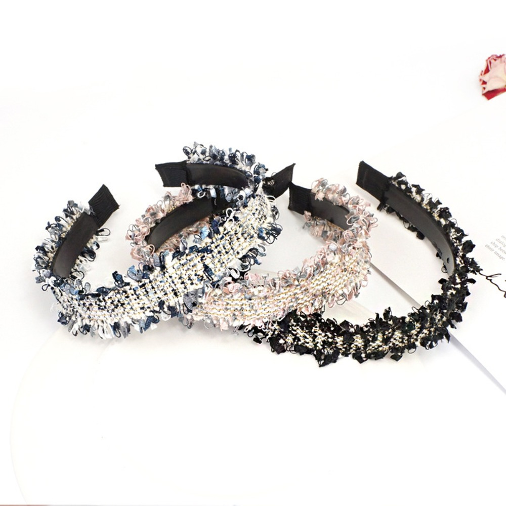 Hair Accessories Velvet Knoted Headbands For Women Solid Wide Side Hair Band For Girls Hair Hoop Headwear Good