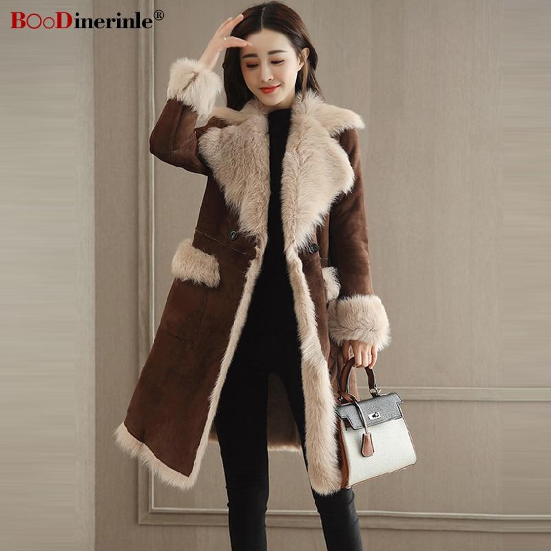 Les Brown Veste Wear Chaud Femelle Street Marron Longue Fourrure