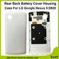 New Back Cover Case Replacment  Battery Cover Rear Housing with logo For LG Google Nexus 5 D820 D821