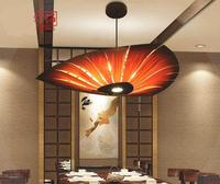 South East Asian wood Pendant Light dining room living room Chinese lantern Hotel Inn Hotel Villa creative art UFO lamp zb28