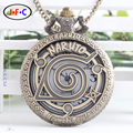Naruto anime Naruto Konoha Kakashi student alloy quartz pocket watch four generation eye watch chain DS054