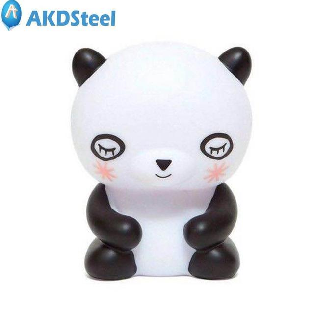 Us 1482 Akdsteel Creatieve Mini Panda Vorm Led Nachtlampje Ogen Onschadelijk Warm Licht Energie Bespaar Cadeau Voor Kinderen Nieuwe Jaar Kerst Zk40