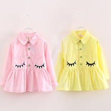 2018 Spring Print Children'S Female Child Clothing Baby Child Girl Ruffle Laciness Shirt