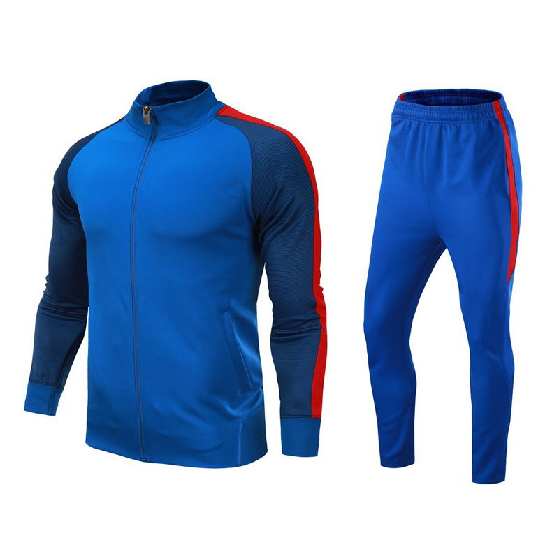 Autumn and winter new sports running set male long-sleeved cardigan jacket football set appearance basketball training suit set