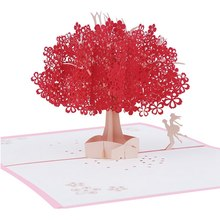 Romantic christmas greetings promotion shop for promotional romantic laser cut post card for valentine day birthday christmas 3d red tree greeting card romantic m4hsunfo
