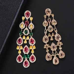 Image 5 - Missvikki boucles doreilles en cristal autrichien pour femmes, marque originale, pendentif magnifique, bijoux danniversaire, acteurs, danseurs, spectacle sur scène