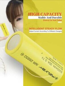 Image 5 - FELYBY 1 5 adet yüksek kapasiteli 5000mAh 3.7V şarj edilebilir 26650 lityum pil için el feneri/güneş/ UPS/elektronik aletler