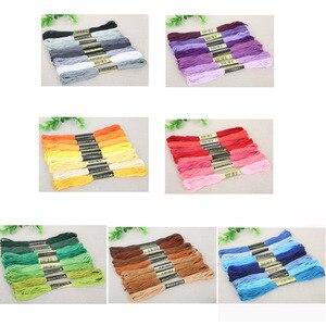8 шт./лот разноцветная хлопковая нить для вышивания крестиком, Швейные Мотки, нитки для вышивания, набор нитей, рукоделие, «сделай сам», Швейные аксессуары