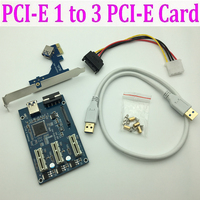 Mining Card PCI E 1 To 4 2 PCIe PCI Express 1X 1 To 3 Port