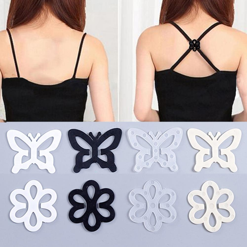 New Butterfly Plum-Shaped Healthy Materials Beautiful Invisible Underwear Shoulder Strap Anti-slip Buckle Invisible Bra Buckle