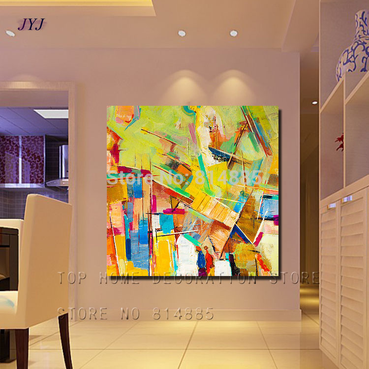 Village\'s Spring Wall Painting American Style 100% Handmade Modern ...