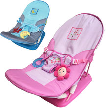 Baby Chair Fold Up Infant Seat Newborn Casual Adjustable Foldable Chaise Lounge Toddle Music Travel Lounge Sling Chair Sofa(China)