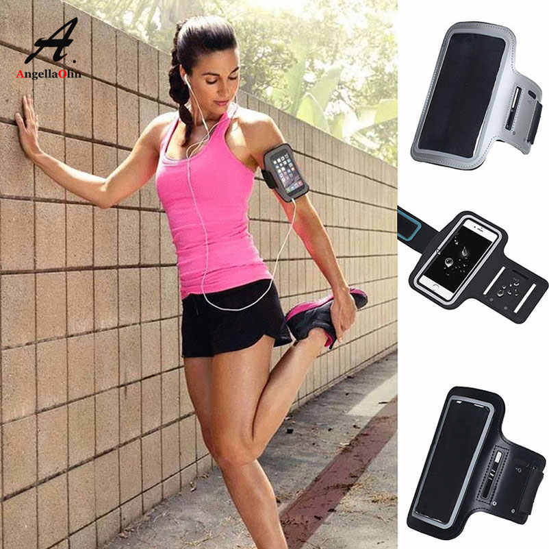 BLACK Armband for Samsung galaxy s10 E Plus Arm Band Run Running Fishing Gym Sport Phone Bag Case