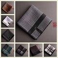 Alta Qualidade 43 cm * 43 cm Moda Clássico Lenço Praças Bolso dos homens 100% Algodão da Manta Do Vintage Jacquard Lenços