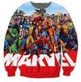 El envío gratuito! Marvel Comics Personajes de Dibujos Animados Sudaderas Mujeres Hombres Trajes Camiseta ocasional Hoodies plus tamaño S-3XL