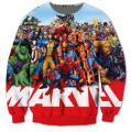 Free shipping! Casual Sweatshirt  Marvel Comics Cartoon Characters  Sweats Women Men Outfits Hoodies plus size S-3XL
