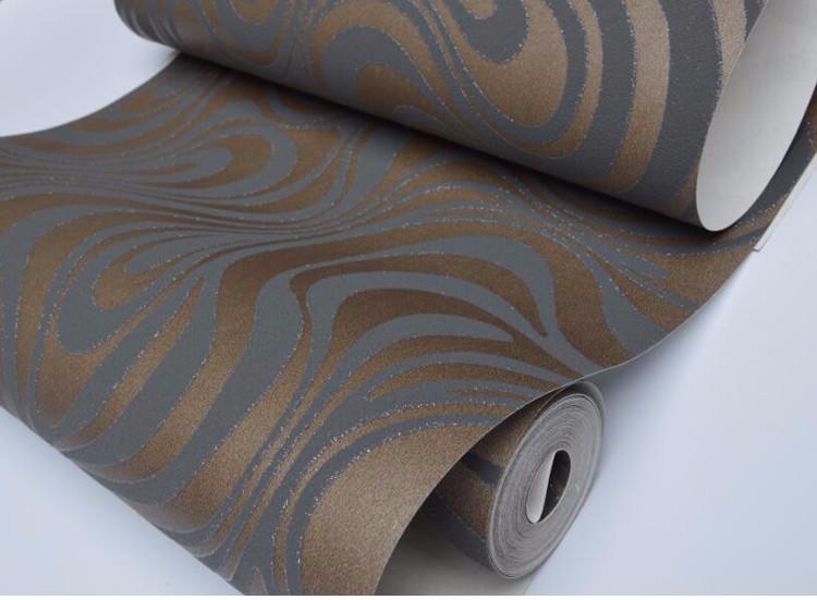 Wysokiej jakości 0.7 m * 8.4 m nowoczesny luksus 3d tapety rolki mural papel de parede uciekają na paski ściany papier 5 kolor r136 15