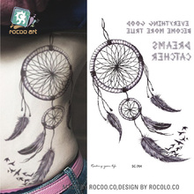 Large 2D Sketch Design Indian Tribe Designs Totem Sketch Dreams Body Art Temporary Tattoo Stickers Fake Big Tatoos