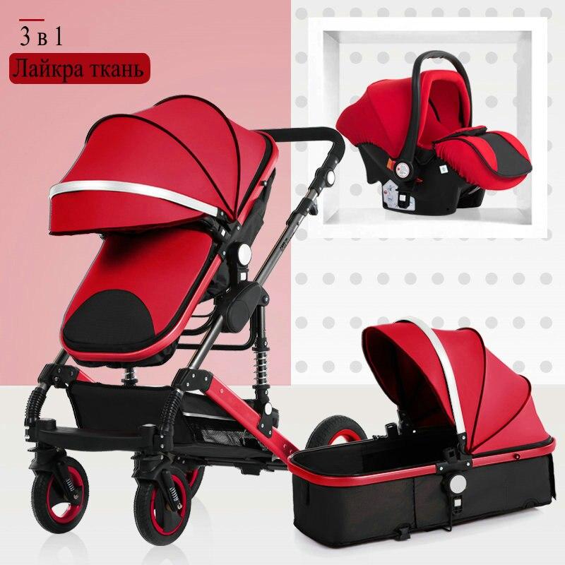 2019 nouveau bébé chariot haut paysage 3 à 1 bébé poussette double face enfants livraison gratuite en quatre saisons en russie - 3