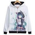 Matryoshka Vocaloid Hatsune miku Kagamine Rin Len Gumi Traje Cosplay Top coat Jaqueta Com Capuz hoodies Unisex Anime Capuz