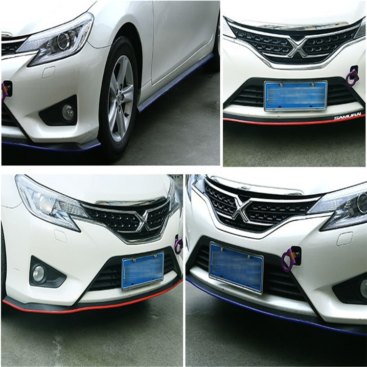 2.5 Mt auto-styling front lip bumpeer rubber sticker. for Geely EMGRAND 7 X7 EC7 GC7 SC7 VISION Great wall H6 H3 C30 ACCESSORIES geely sc7 sl car front headlight head light transparent cover