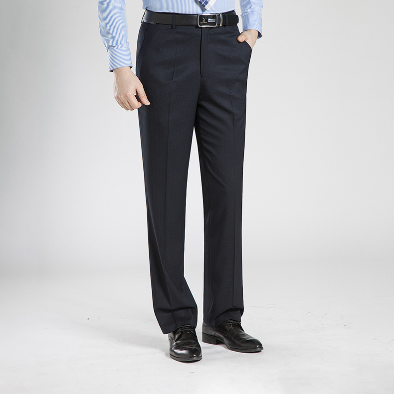 HTB1JfickFmWBuNjSspdq6zugXXaX Summer Business Thin Suit Pants For Men 29-50 Spring Autumn Male Formal Stretch Solid Silk Long Dress Baggy Office Trousers