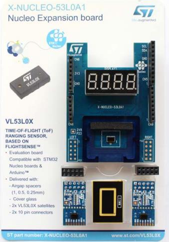 P-NUCLEO-53L0A1 Spot VL53L0X carte de capteur optique contenant NUCLEO-F401RE