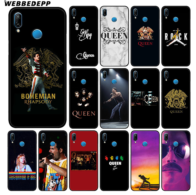 WEBBEDEPP Queen Bands Soft Silicone Case For Huawei P20 Pro P10 P9 P8 Lite 2015 2017 P Smart & Nova 3 3i TPU