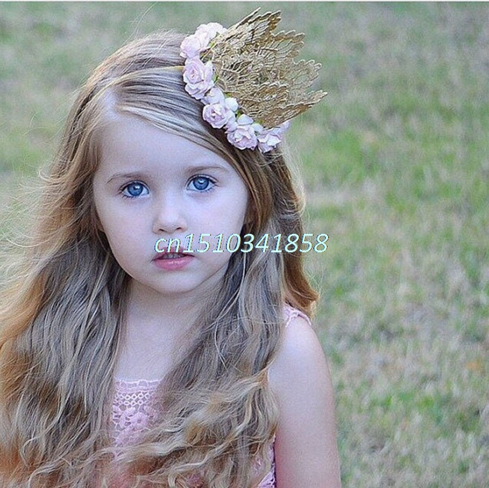 Baby Kids Toddler Girls Lace Flowers Crown Princess Hair Band Headband Accessory #Y51#