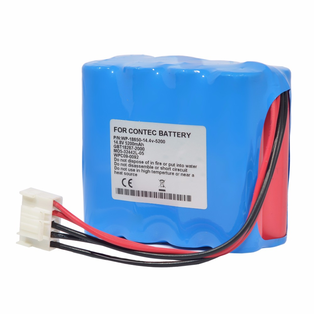 5200mAH New Electrocardiogram (ecg) battery for ZONCARE ZQ-1212 JHT-99F-00 WPC09-0092 MO5-32442L-05