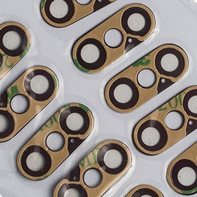 30 piezas de repuesto Lente de Cristal de la cámara trasera con adhesivo para iPhone X Negro