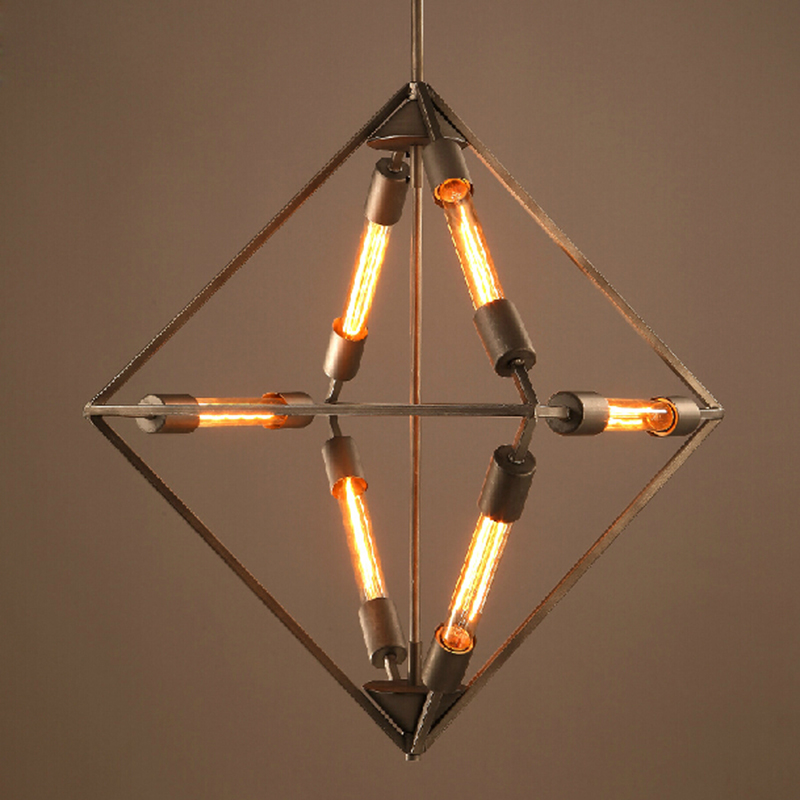 design lamp pendant lighting Industrial Rhombus hanging lamps for dining room Vintage Edison droplight iron retro pendant lightsdesign lamp pendant lighting Industrial Rhombus hanging lamps for dining room Vintage Edison droplight iron retro pendant lights