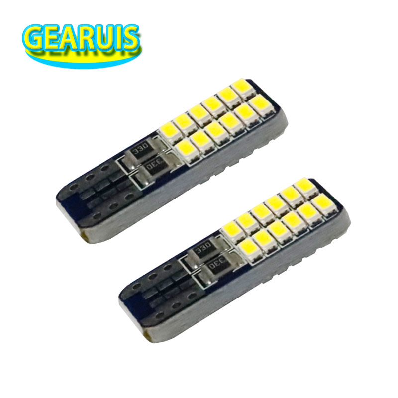 100X <font><b>T10</b></font> <font><b>24</b></font> <font><b>smd</b></font> 3014 LED 0.11A W5W Canbus 194 168Light Bulbs Car Interiror reading dome lamps Parking lights Car accessories image