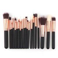 2017 20 Pcs High Quality Professional Cosmetic Makeup Brush Set Gold Black Foundation Eyeshadow Blush Brush