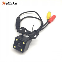 EEMRKE Universal Car Camera HD CCD Night Vision 4 LED Auto Rear View Camera 170 Wide