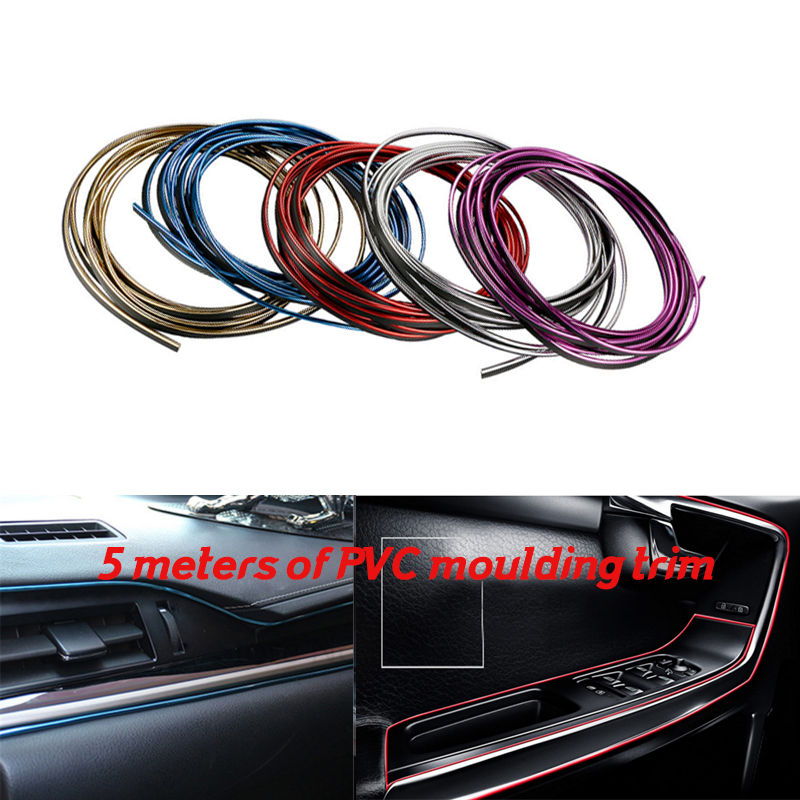 5 Meter Car Side Rein moulding decoration strip PVC decorative tape Auto dash panel trim strip X1/X3/X5/X6/Z4/1M/M3/M5/M6/X5M/X6