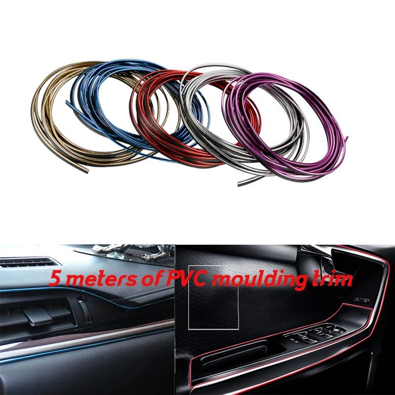 5 Meter Car Side Rein moulding decoration strip PVC decorative tape Auto dash panel trim strip X1/X3/X5/X6/Z4/1M/M3/M5/M6/X5M/X6
