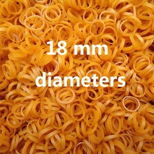 100Pcs Small Size Diameter 18mm Brown Stretch Elastic Rubber Band