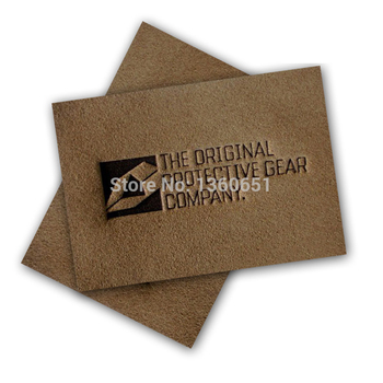 leather label factory help you custom made your own logo leather labels for clothing