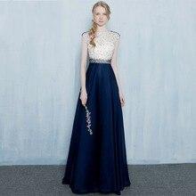 Setwell Elegante Sheer Neck Bodenlangen Abendgesellschaft Kleid mit Spitze sleeveless Formales Abschlussball-kleider Nach Maß