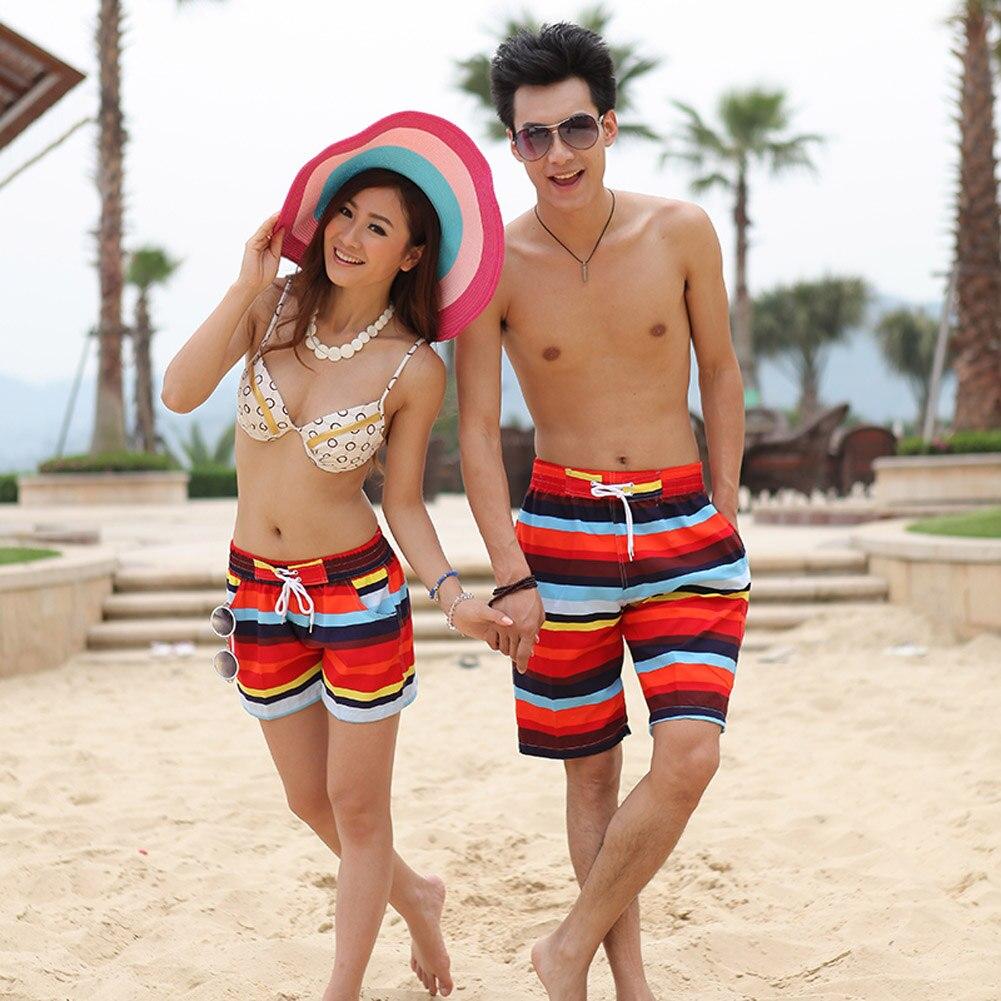 New Mens Womens Couple Lover Lovers Summer Beach Surf Board Swim Shorts Swimming Surfing Beach Shorts