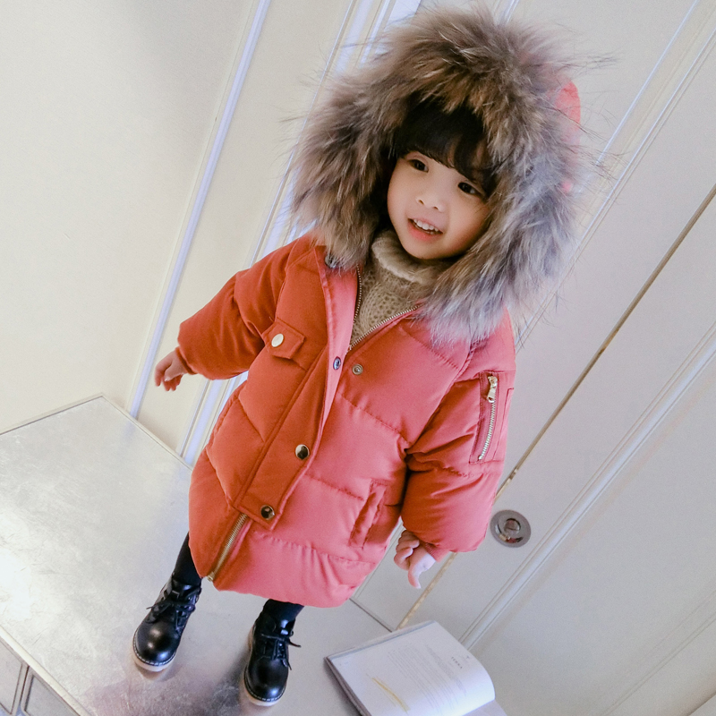 Boys Girls Down SnowSuits 2018 Winter Jacket For Boys Warm Big Fur Collar Hooded Outerwear Coat Kids Parkas Children's Clothing winter jacket for boys 2017 new brand teenage boys fur collar hooded down coat fashion children thicken warm outerwear clothing