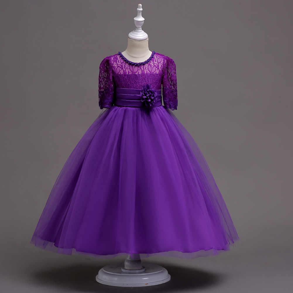 95eb6e522 ... Weixu Girl Flower Lace Princess Wedding Party Dresses Kids Evening Ball Gowns  Formal Clothes for Girls ...