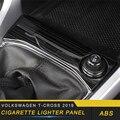 Dla Volkswagen T CROSS 2019 samochodów stylizacji zapalniczki Panel pokrywa wykończenia ramki naklejki wnętrze akcesoria w Naklejki samochodowe od Samochody i motocykle na