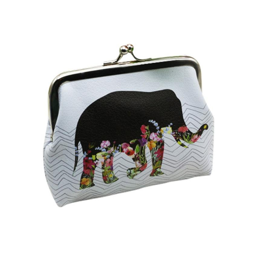 Women Coin Purse Elephant Partten Hasp Change Bag Card Holder Girl Simple Fashion Clutch Wallet Monederos Mujer Monedas #7201 casual weaving design card holder handbag hasp wallet for women