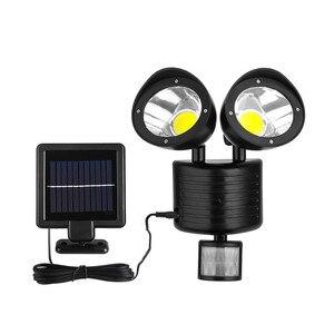 Image 4 - Binval שמש מנורת 2 ראש חיישן עמיד למים 22LED גן חיצוני פאטיו חצר שמש LED אורות גן קישוט
