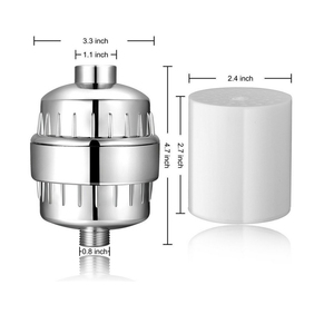 Image 2 - Hongdec 15 ステージシャワー水フィルター清浄 2 交換可能なカートリッジクローム