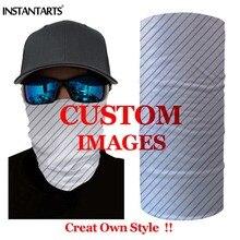INSTANTARTS Custom Sport Headwear Cycling Scarf Multi Outdoor Fishing Hiking Magic Scarves Windproof Face Mask Headband Bandana цена и фото