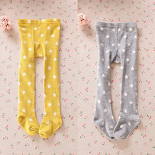 0-4 Years Children Spring Autumn Tights Cotton Baby Girl s Boys Stars pantyhose  Kid Infant Knitted Tights Clothing Accessories